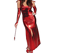 Easter Day Red PU Devil Cosplay Women Halloween Costumes