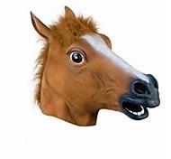полная голова маска голова лошади маски жутким мех грива латекс реалистичный сумасшедший резиновый супер жуткая маска партии Хэллоуин