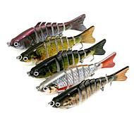 5pcs 100mm 15.4g Fishing Bait 7-Section Fishing Lures  Random Colors