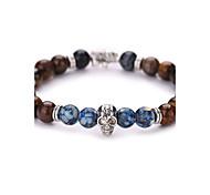 New Arrival Natural Skull Bracelet Tiger Stone  Beads Bracelet  #YMGS1021 Christmas Gifts
