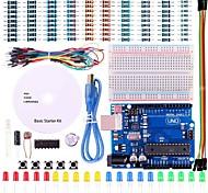 starter kit de projeto básico uno com o tutorial e uno R3 para arduino