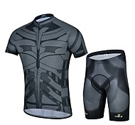 Sports Bike/Cycling Jersey + Shorts / Bottoms / Tops Men's Short Sleeve Breathable / Sweat-wicking Elastane WhiteS / M / L / XL / XXL /