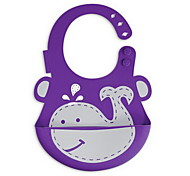 Baby Bibs Silicone Waterproof Bibs Infants Kids Cute Baby Bib Pocket (whale)