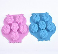 (Random color)1Pcs  Ice Cube Ice Cube Tray Soap Mold Owl Shaped Silicone Cake Mold Chocolate Mold