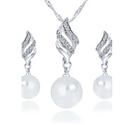 Imitation Pearl Jewelry Set Bridal Jewelry Sets Wedding / Party / Daily / Casual 1set