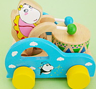 Cartoon Bear Drums Toy Car