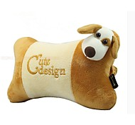 Ocus Plush Cute Cartoon Car Headrest Neck Travel Pillow Bone Pillows Yellow Dog Neck Cushion