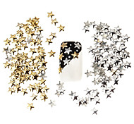 100pcs Best Price Set 5mm Silver And Golden Star Metal Studs Manicure Nail Art 3D Decorations