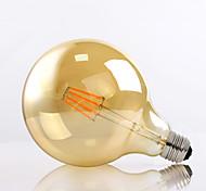 8W E26/E27 Lampadine LED a incandescenza G125 8 LED ad alta intesità 650lm lm Bianco caldo Decorativo AC 220-240 V 1 pezzo
