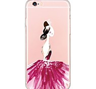 Ballet Girl Pattern TPU Soft Ultra-thin Back Cover Case Cover For Apple iPhone  6 Plus / iPhone 6s/6 / iPhone 5s/5
