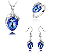 Z&X® Austrian Crystal Earrings Necklace Rings Set