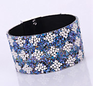 Women's New Fashion Diamond Retro/Exaggeration Magnet Alloy Buckle Bangles