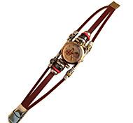 Frauen Jahrgang Band Armband Mode-Leder Uhr