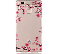 TPU + IMD Material Plum Flower Pattern Slim Phone Case for Huawei P9 Lite/P9/P8 Lite/Y625