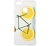Orange Bike Pattern TPU Soft Case Phone Case for Huawei Series Model