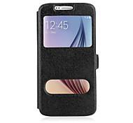 für Samsung-Galaxie Hinweis5 Fall PU-Leder Flip-Cover mit Doppelfenster stehen Samsung Hinweis5 Note 4 3