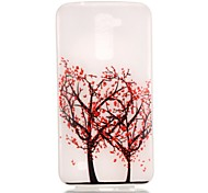 Tree Pattern Pattern Relief Glow in the Dark TPU Phone Case for LG K10/K8/K7/K5
