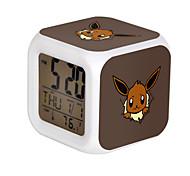 Poke Ball Colorful Flash Cartoon Alarm Clock-23#