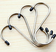 High-quality Stainless Steel S Hook Shape Trace Into Four Load-bearing 5kg Multifunctional Home