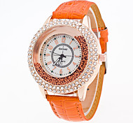 Men's Women's Unisex Dress Watch Fashion Watch Digital Stopwatch Imitation Diamond Leather Band VintageBlack White Blue Red Green Pink