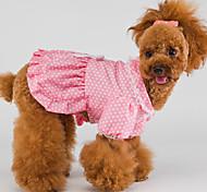 Cani Vestiti-InvernoBianco / Rosa- diCotone