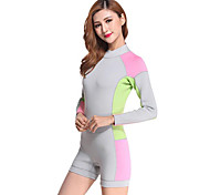 Women's 2mm Wetsuits Wetsuit Shorts Shorty Wetsuits Compression Tactel Diving Suit Long Sleeve Diving Suits Shorts-Diving Surfing