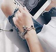 Silver Star Pendant Chain Bracelet