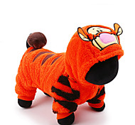 Cat / Dog Costume / Clothes/Jumpsuit Orange Dog Clothes Winter / Spring/Fall Cartoon Cute / Cosplay