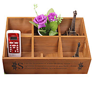 Special Offer Zakka Desktop Storage Box Storage Box, Wooden Box, Wooden Box, Wooden Retro Garden Socks Remote Control