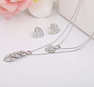 Simple Love Diamond Jewelry Set And AlloyImitation Diamond Birthstone
