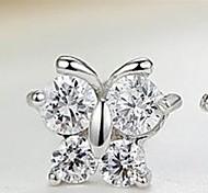 Fashion Diamond Butterfly Earrings