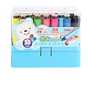 True Color Cool Acridine Ribbon Seal Watercolor Pen Washable Non-toxic Young Children Painting Pen Set 18 Colors