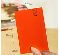 Korean Version Of The Simple Solid Color Notepad Cute Candy Colored Notebook