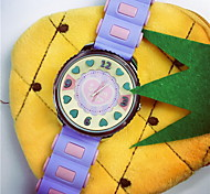 Women's Causal Candy Color Silicon Band Quartz Watch