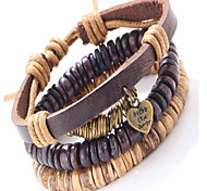 Leather Bracelets 1pc,Adorable Brown Leather Jewelry Gifts