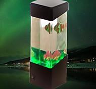 (Peixes preto) mini-usb aquário lâmpada pequenos peixes criativo lâmpada de mesa luz noturna levou eletrônico