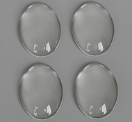 Beadia 20Pcs 18x25mm Flat Oval Clear Glass Cabochon For Earring Bracelet Necklace Jewelry Making