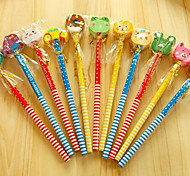 Pupils Gift Cartoon Wooden Pencil With A Rubber Sleeve Pencil New Paragraph B