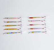 """10 pc Esche rigide Esca metallica Jig Esca Esca metallica Esche rigide Jig Colori assortiti g/Oncia mm/2-1/4"""" pollice,FiliPesca di mare"""