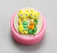 Two Foxes Chocolate Silicone Molds,Cake Molds,Soap Molds,Decoration Tools Bakeware