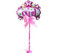 festa de aniversário do bebê que comemora o flutuador pequena base da tabela (menina rosa + rod + Garland)