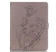 PU leather Material Butterfly Pattern Plate Embossing Protective Case for Apple iPad  4/3/2