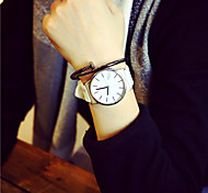 Women's Fashion Watch Quartz Casual Watch Plastic Band White