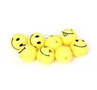 beadia 20pcs granos de acrílico de 18 mm redondo sonrisa amarilla de la cara granos del espaciador de plástico (agujero de 2 mm)