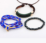 Men's Fashion Leather Strand Bracelets