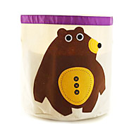 Cartoon Animal Storage Barrel Organic Cotton Hanging Bag Storage Box