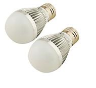 5W E26/E27 LED Kugelbirnen A60(A19) 6 SMD 2835 300 lm Kühles Weiß Dimmbar / Dekorativ AC 220-240 V 2 Stück