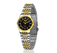 Women's and Lovers Alloy With Gold Ultra-Thin Fashion Casual Watch