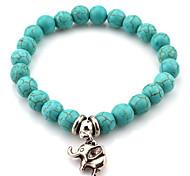 Fashionable Blue 19cm Round Strand Bracelets