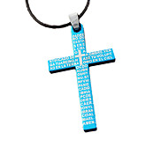Titanium Stainless Steel Cross Pendant Necklace Lovers Lovers
